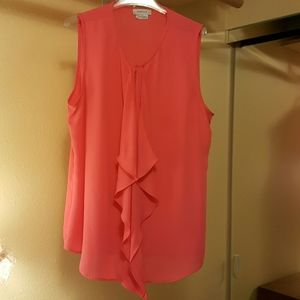 Coral flowing top. Perfect dressy top!
